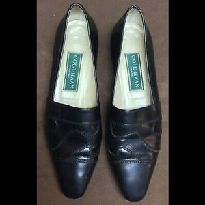 Cole Haan Black Leather Slip On Shoes